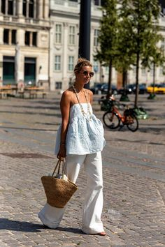 Printemps Street Style, Spring Street Style, Spring Summer Fashion, Casual Street Style Summer, Summer Street Fashion, Street Style Fashion, Looks Chic, Looks Style, Love Fashion