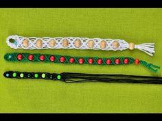 Macrame bracelet with beads - YouTube