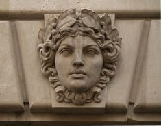 Limestone Green Woman Mascaron, Fourteenth Street NW (Washington, DC) | por takomabibelot