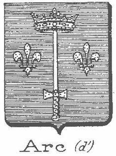 """Coat of Arms - Jehanne la Pucelle  """"In my home village they called me Jhenette, but since I came to France I have been called Jehanne."""""""