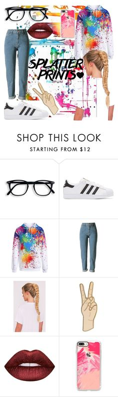 """""""casual"""" by mimi1324 ❤ liked on Polyvore featuring Chanel, adidas Originals, Lucky Brand, Lime Crime and Casetify"""