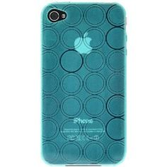 Amzer Circle TPU Skin Case for iPhone 4 - Blue - Fits AT and Verizon iPhone 4