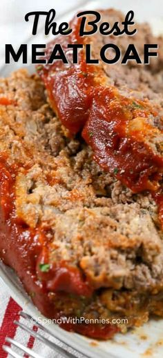 This classic meatloaf recipe couldn't be easier or more delicious! It is just like my mom used to make! #spendwithpennies #meatloaf #meat #dinner #beef #groundbeef