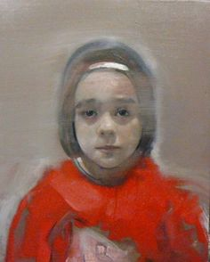 "Saatchi Online Artist: christos tsimaris; Oil, 2010, Painting ""girl with red"""