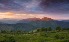 Вид на Румунську гору Фаркеу (Мармароси), автор Олександр Котенко