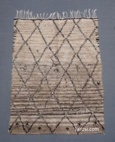 Vintage Beni Ouarain by Larusi We absolutely love the grey/dark tones in this rug!