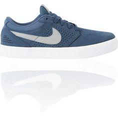 Nike SB P-Rod 5 LR Lunarlon Denim, White & Silver Skate Shoe