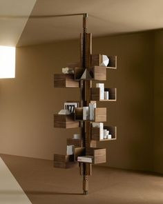 Poltrona Frau, the Italian furniture maker, is defying the odds by recreating the timeless Albero freestanding bookcase originally designed . Minimalist Bookshelves, Creative Bookshelves, Bookshelf Design, Italian Furniture, Modern Furniture, Furniture Design, Luxury Furniture, Home Design, Interior Design