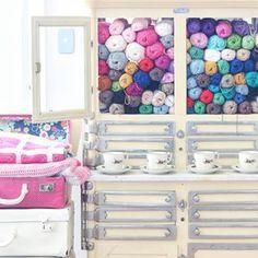 Yarn storage - crochet blankets
