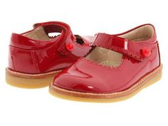 Elephantito - Mary Jane FA11 (Infant/Toddler) (Red Patent) Girl's Shoes