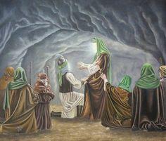 Shahadat Imam Hussain, Ali Islam, Battle Of Karbala, Imam Hussain Wallpapers, Islamic Paintings, Bible Illustrations, Muharram, Islamic Art Calligraphy, Madina