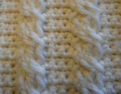 Cable crochet tutorial .  Must learn this!!