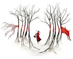 Little Red Riding Hood...source unknown
