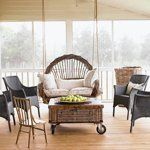 With spring slowly but surely taking hold, my mind is turning to fresh spaces and favorite warm weather leisure spots. Nothing says relax like a plush porch swing! And thankfully, even the porch-less can achieve the feel indoors.
