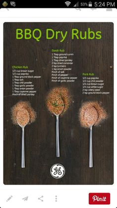Bbq Dry Rubs - Expolore the best and the special ideas about Smoking meat Bbq Ribs, Rub For Pork Ribs, Pork Rub, Barbecue Bbq, Brisket Rub, Ribs On Grill, Barbecue Sauce, Dry Rub Recipes, Smoked Meat Recipes