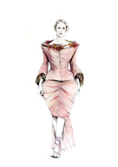 Do you like my tight sweater ? - Caroline Andrieu: Alexander McQueen - The Hub Magazine