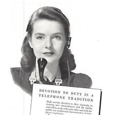 1941 Bell Telephone System 4 Vintage Print Ads Devotion To Duty Operator