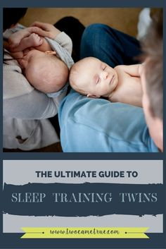 This is the most comprehensive guide you will find about sleep training your twins.  It is a great sleep training series that leads you step by step through gently sleep training twin babies!
