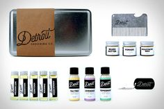 Gathering together every bathroom essential in a single package, the Detroit Grooming Company Kitchen Sink Grooming Kit includes everything you need to look your best no matter your style. Included in the pack are half-ounce canisters of pomade, beard butter,...