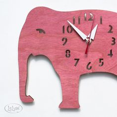 Who doesn't need a pink elephant clock?