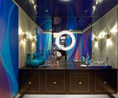 Charles Pavarini for the Kips Bay Decorator Showhouse 2015 Contemporary Interior Design, Modern Contemporary, Kips Bay Showhouse, Design Show, Portfolio Design, Life Is Good, Mirror, Luxury, Bathrooms
