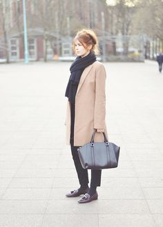 Mint&Berry Coat, Zara Slipper