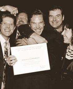 Benny receiving his Emmy nomination in LA. love his face!