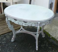 chalk painted side table, crabapple barn