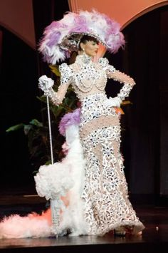 Traje Dama Antañona - Stefanía Fernández en Miss Universe.