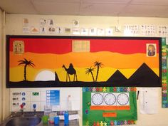 Egyptian display Teaching Displays, Class Displays, School Displays, Classroom Displays, Classroom Decor, Egyptian Crafts, Ancient Egyptian Art, Egyptian Party, Ancient Aliens