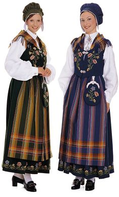 Two Norwegian girls. Bunad National costume from North Norway. Swedish Style, Scandinavian Style, Folk Fashion, Kids Fashion, Ethnic Fashion, Fashion History, World Of Fashion, Norwegian Vikings, Norway Viking