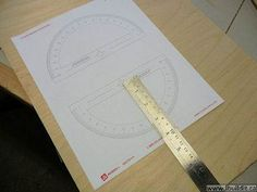 Radius laid out with the compass.