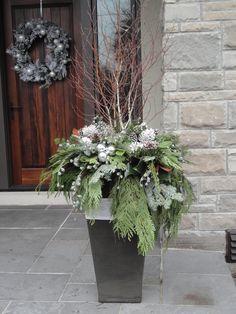 Christmas urn winter white by Carla mcgillivray