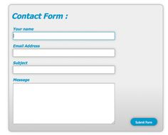 contact form css