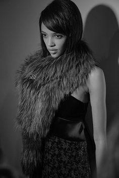 Sonia Rykiel AW15, Dazed, womenswear, faux fur stole pin
