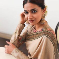 Looking for cotton saree blouse designs? Here are our picks of stylish patterns, chic front neck, & back neck designs you can try with cotton saree blouse! Tamil Actress Photos, Indian Film Actress, Beautiful Indian Actress, Indian Actresses, Beautiful Saree, Blouse Designs High Neck, Cotton Saree Blouse Designs, Saree Photoshoot, Indian Jewellery Design