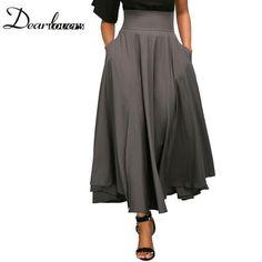 Dear Lovers 2017 Retro High Waist Pleated Skirt