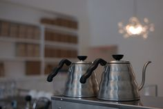 drip coffee kettle by lazybone cafe on Flickr.