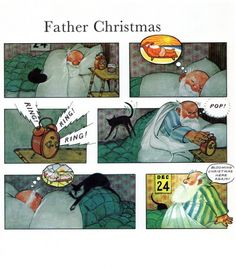 Raymond Briggs' Father Christmas Christmas Ring, Christmas Books, Father Christmas, Raymond Briggs, Children's Book Illustration, Book Illustrations, Vintage Children's Books, Stories For Kids, Winter Holidays