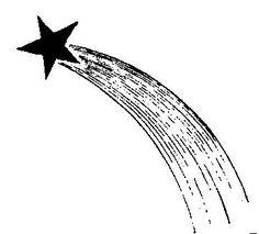Shooting Star Outline Clip Art | shooting-star