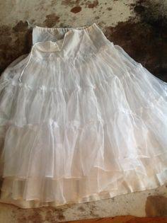 lace soft wedding prom skirt white beachy wedding by TexasJunkLady, $99.00