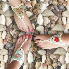 sandales pieds nus crochet We Are Knitters