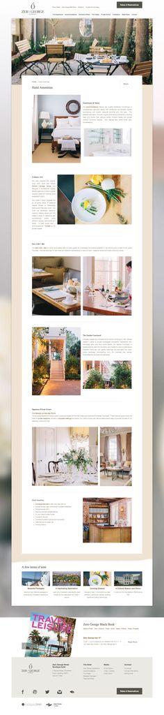 Zero George Street - Boutique Hotel Website Amenities Page - Charleston, SC