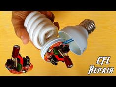 "Hi Guys here is the new video from my channel ""How to Repair CFL Bulb at Home OR Repair Compact Fluorescent Light bulbs."" from ""Electrical and electronics pr. Simple Electronics, Electronics Projects, Electronics Gadgets, Arduino, Electronic Circuit Projects, Electronic Schematics, Home Repair, House Wiring, Scooter Girl"