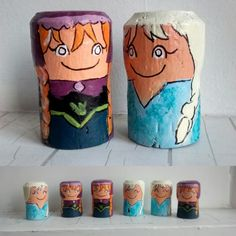 These cork characters look kinda like Frozen