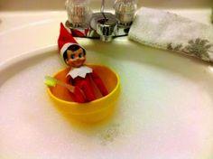 Rub a dub dub...an elf in the tub!