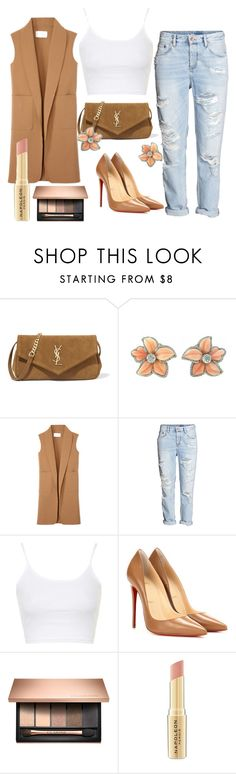 """Camel"" by teennetwork ❤ liked on Polyvore featuring Yves Saint Laurent, Alexander Wang, H&M, Topshop, Christian Louboutin and Napoleon Perdis"