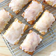Pecan Pie Pop Tarts ~ Recipe is part of pizza - 2 cups flour, 1 teaspoon salt, 1 teaspoon sugar, 1 cup cold unsalted butter, cut into Pecan Pie Filling, Tart Filling, Pecan Pies, Tart Recipes, Dessert Recipes, Cooking Recipes, Pastry Recipes, Empanadas, Pop Tarts