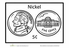 Worksheets: Nickel Coloring Page