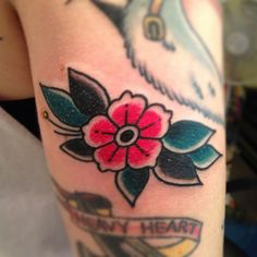 filler flower by Courtney O'Shea at Let It Bleed Tattoo San Francisco